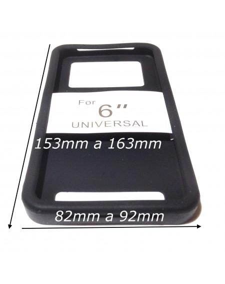 """Funda 6"""" Silicona ajustable universal trasera"""
