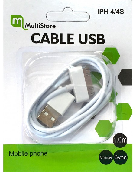 Cable cargador USB iPhone 4/4S iPad2/3