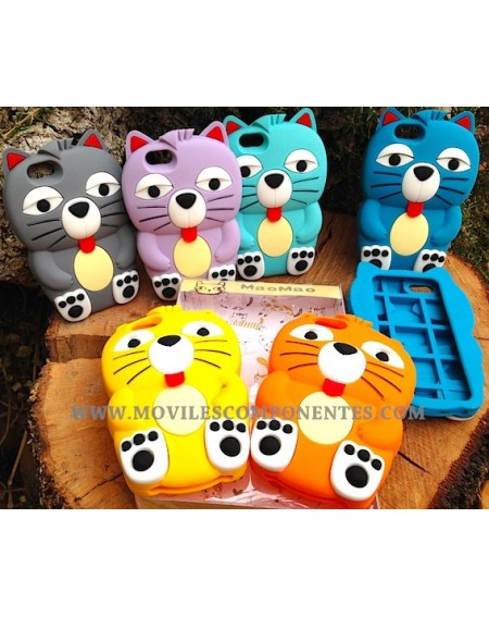 Funda Gato Goma Relieve iPhone 5/5S