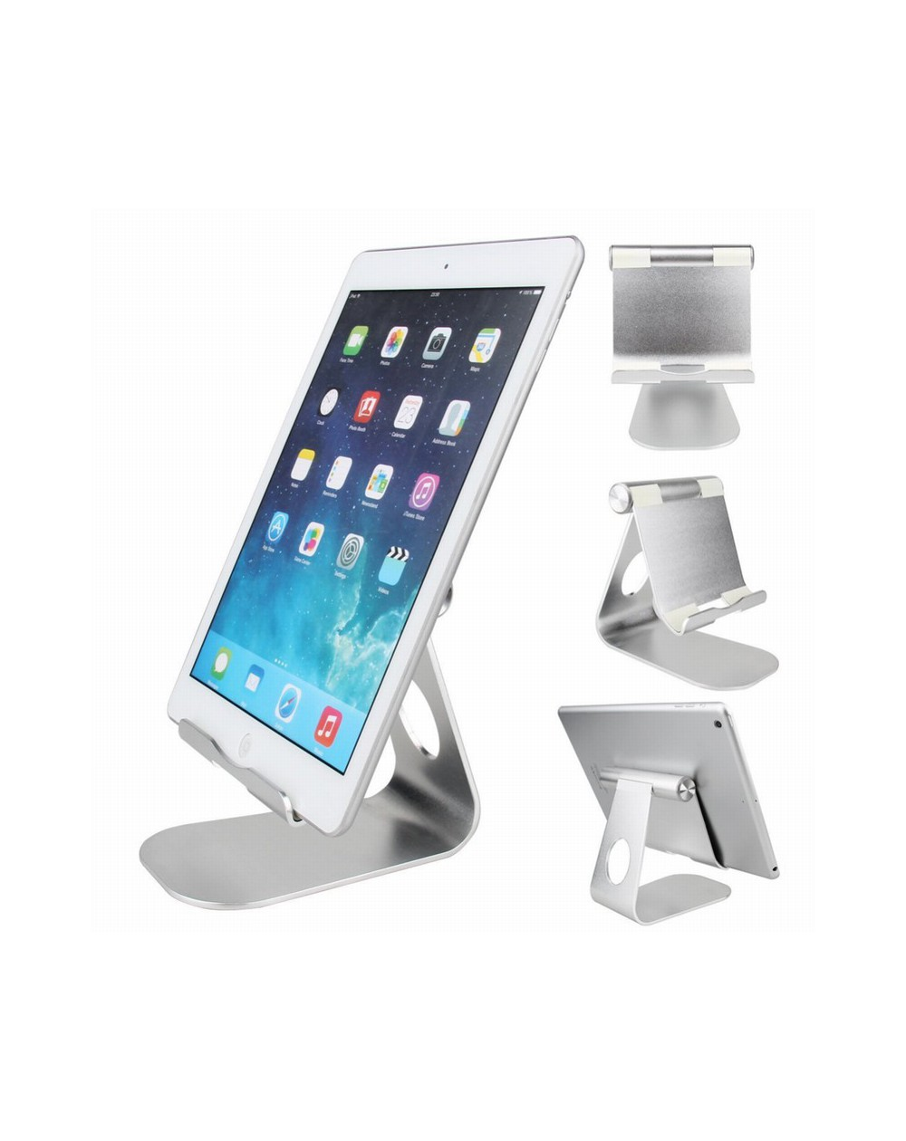Soporte para iPad flexible de aluminio.