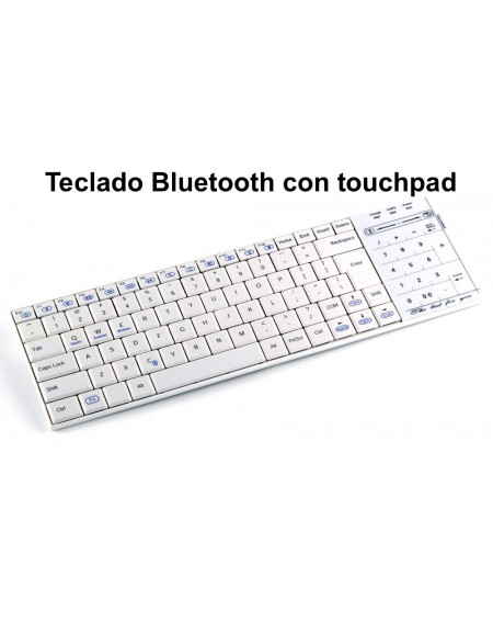 Teclado bluetooth con touchpad